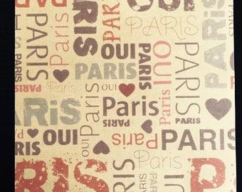 Light kraft leaf decorated - Yes / PARIS
