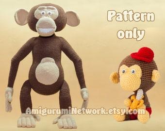 CROCHET PATTERN - Monkeys amigurumi - 2 Patterns Offer. PDF