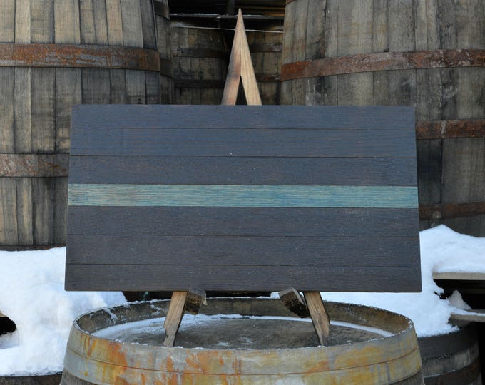 Thin Blue Line Support Series Whiskey Barrel Flag  - Proceeds Donated