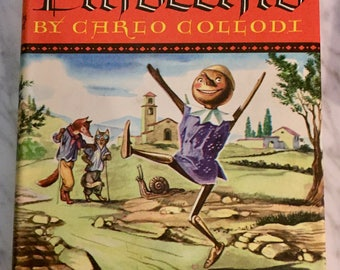 The Adventures of Pinocchio, Carlo Collodi, illustrated by Fritz Kredel, 1946