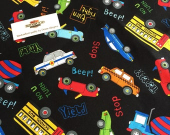 City Construction Children's quilting Fabric, Cars, Buses and Trucks Fabric, Benartex Fabrics, Childen's fabric, Kid Print Fabric