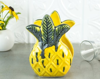 Pineapple napkin holder Pineapple Sponge Holder Pineapple Tropical Decor Yellow Green Handmade Ceramic Pottery Kitchen Housewarming Gift
