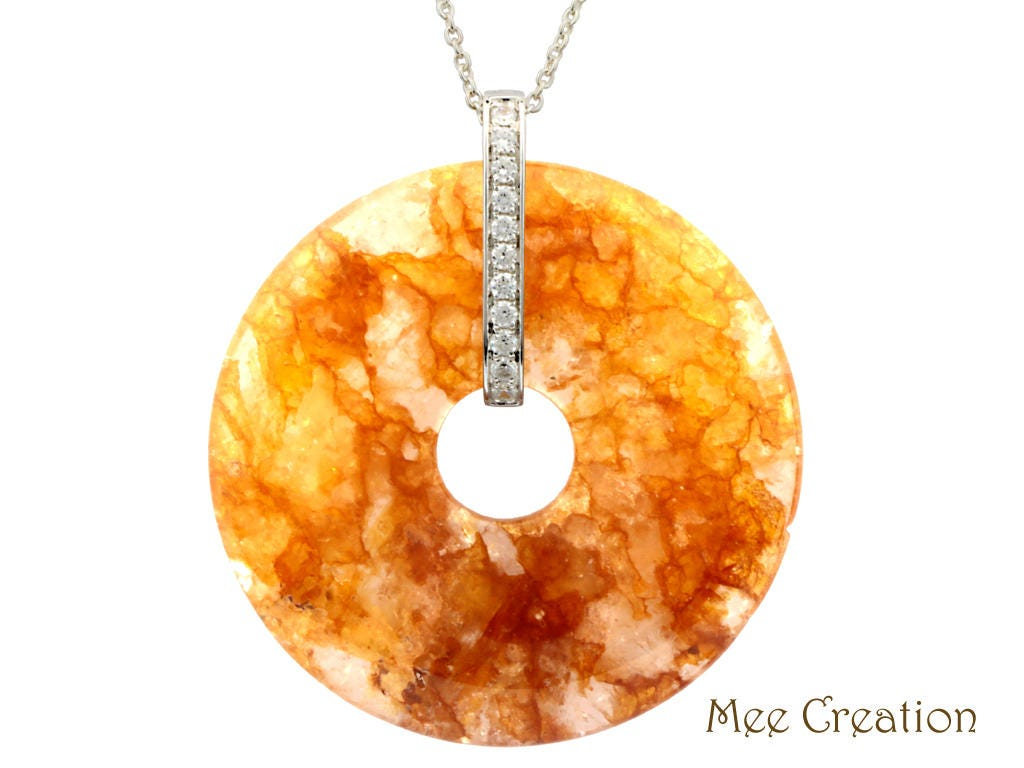 Pd120101 citrine crystal round donut pendant yellow crystal zoom aloadofball Gallery