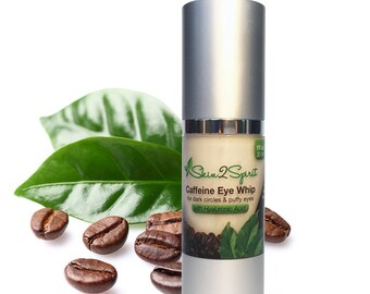 AGE DEFYING Eye Cream w/Caffeine & Hyaluronic Acid   for Puffy Eyes   Dark Circles   Fine Lines   Natural   Organic   Cruelty Free   1 oz!