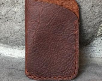 Kodiak Oil Tanned Leather Card Case Wallet