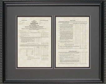 IRS Form 1040 From 1913 | Framed Art Tax Advisor Accountant Bookkeeper Gift H19131620