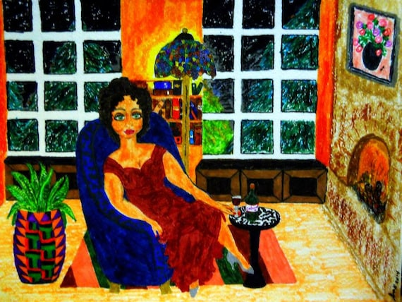 """Archival PRINT of Original Painting, """"Mellowed In Time"""", by Hoosier Artist Stacey Torres"""