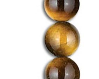 Yellow tiger eye bead Ø 4mm