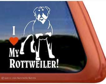 I Love My Rottweiler! | DC376HEA | High Quality Adhesive Vinyl Dog Window Dog Decal Sticker