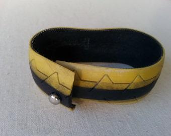bracelet from road bike tire