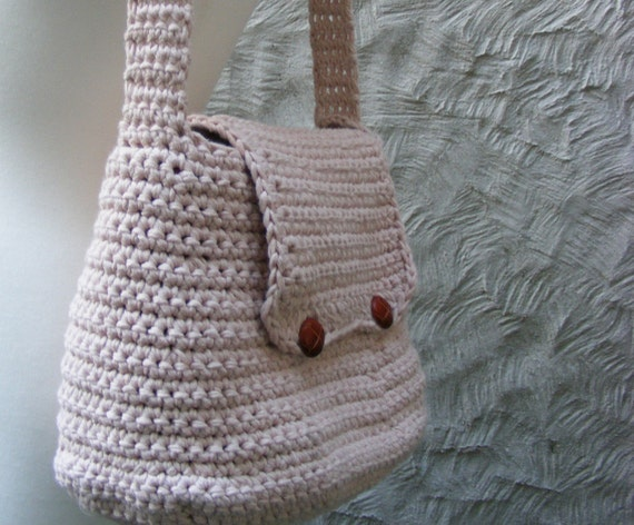 Bag Crochet Pattern Crocheted Bag Purse Large With Flap