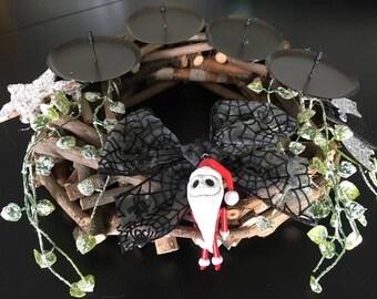 Jack Skellington Nightmare Before Christmas NBC Fan Art Christmas Wreath