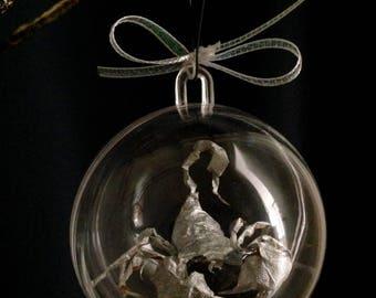 Scorpion Foil Sculpture Handmade Christmas Ornament