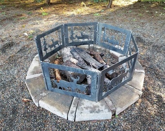 Deer, Buck and Does Fire Pit | Portable Fire Pit | Metal Fire Pit