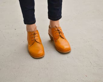 Leather Shoes, Brown Shoes, Handmade Shoes, Winter Shoes, Oxford Shoes, Brogues, Leather Flats, Winter Flats, Tie Shoes