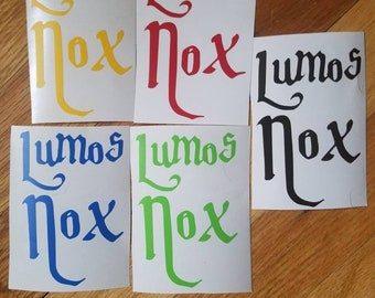 Harry Potter inspired Lumos Nox decal