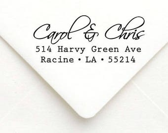Personalized Self Inking Return Address Stamp - self inking address stamp - Custom Rubber Stamp A21