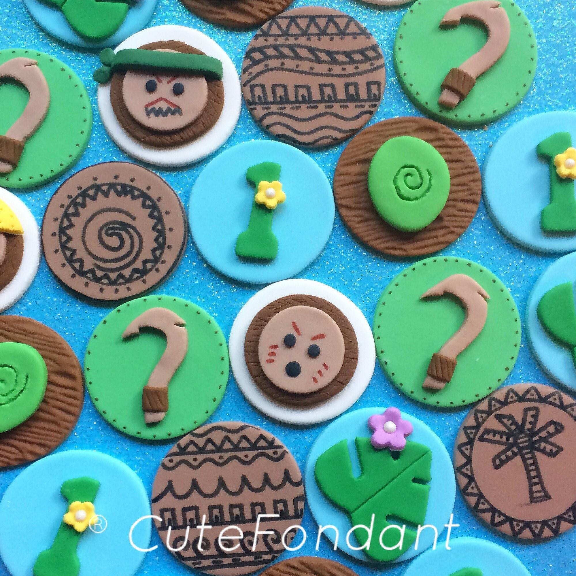 12 Maui Fondant Kuchen Topper Maui Haken Moana Partei
