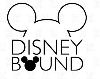 Disney Bound SVG Cut File Digital file Modern Disney Svg Dxf  disney SVG outlined for Silhouette Cricut