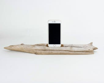 Docking Station for iPhone, iPhone dock, iPhone Charger, iPhone Charging Station, iPhone driftwood dock, wood iPhone dock/ Driftwood-No. 997