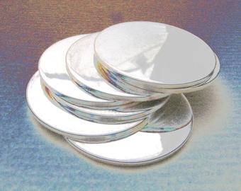 13mm 24 Gauge STERLING SILVER Discs Hand Stamping Metal Blanks