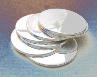1/2 Inch 24 Gauge STERLING SILVER Discs Hand Stamping DISCS Metal Blanks 24 Gauge 1/2 Inch Disks