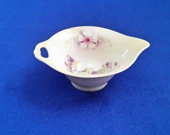 German Floral Gravy Bowl/German Floral Gravy Boat/Vintage German Handpainted Gravy Bowl/Early 1900's German Gravy Boat