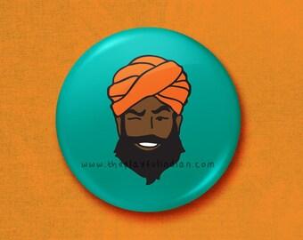 My Singh - 45mm Pin Badge / Pocket Mirror / Fridge Magnet / Keyring
