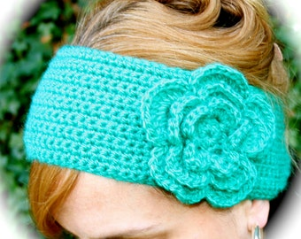 FLOWER HEADBAND,Crochet Pattern Headband with Big Layered Flower, Handmade, Crochet, Craft, Craft Pattern, Headband, Crochet Flower, Easy