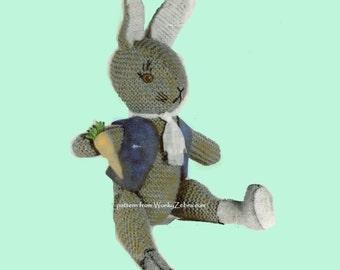 Vintage Toys Knitting Patterns PDF 544 Scotch Wool Shop from WonkyZebra
