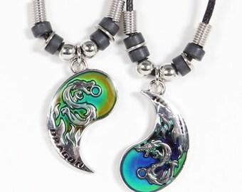 Best Friend Dragon necklace Best Friend Necklace Friendship Necklace Best Friends Best Friends Gift Bff Necklace Best Friend Pendant