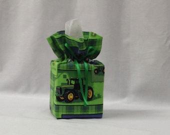 Tissue Box Cover, Tissue Box, Kleenex Box Cover, Bathroom Decor, Bathroom Accessories, Handmade, John Deere, Teacher Gift, Childs Decor
