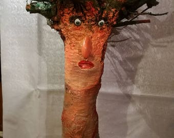 Sculpture from tree root