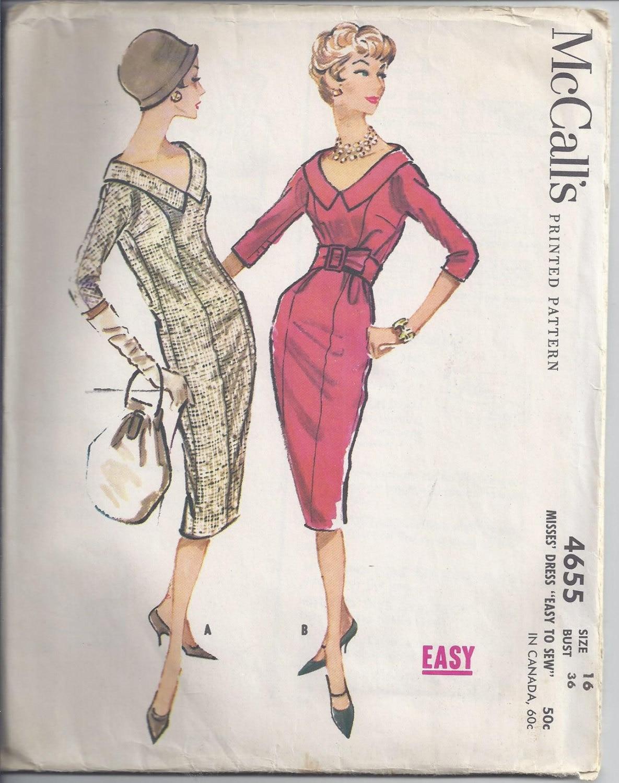 4655 desde 1958 falta un pedazo delgado vestido mangas de