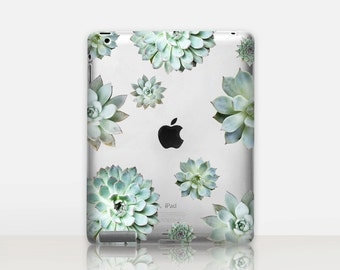 Succulent Transparent iPad Case For - iPad 2, iPad 3, iPad 4 - iPad Mini - iPad Air - iPad Mini 4 - iPad Pro