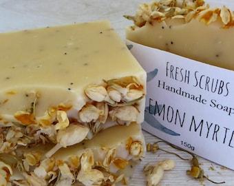 Lemon Myrtle soap/soap/natural soap/handmade soap/soap australia/essential oils/vegan/artisan