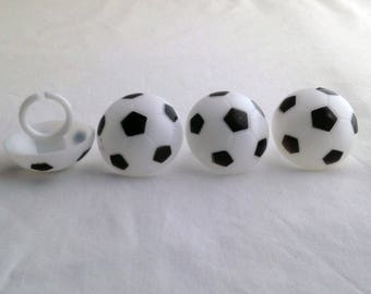 12 Soccer Rings Cupcake Rings Toppers Party Favors