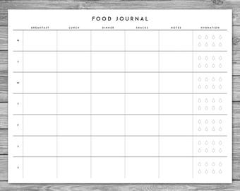 printable food logs