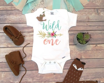 Wild One Onesie®, Wild One Birthday Outfit, Boho Birthday Shirt, First Birthday Girl Outfit, 1st Birthday Shirt, Boho Baby Clothes, Arrow