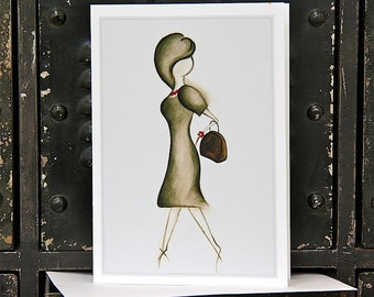 Blank Greeting Card 7x10 'Sassy' FREE SHIPPING