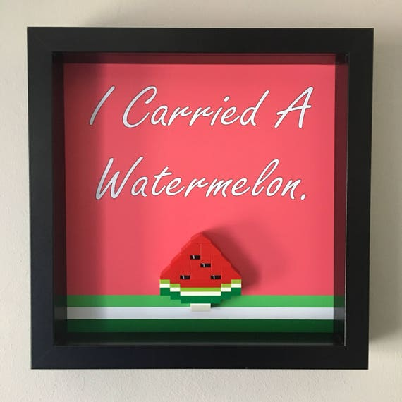 I Carried A Watermelon Frame, Mum, Gift, Geek, Box, Dad, Idea, For Her, For Him, Valentine, Comic, Art, Frames, Dirty Dancing