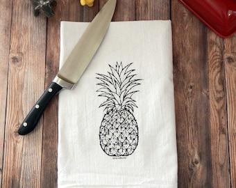Pineapple Hospitality Flour Sack Tea Towel