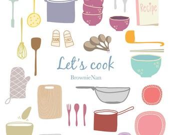 kitchenware clip art set