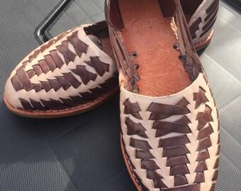 10US Leather huaraches