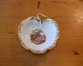 F & F Limoges, France - Fragonard signed dish