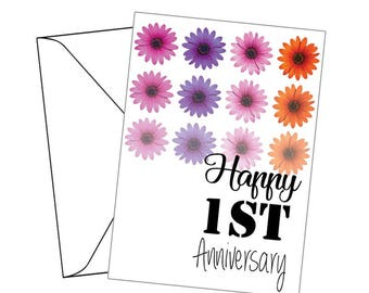 Anniversary Cards - Personalise your year - Celebration / wedding cards