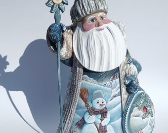 Russian Santa Claus with the Snowman