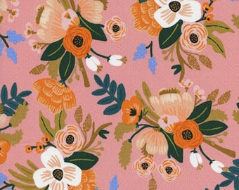 Cotton + Steel - Amalfi Collection - RAYON Lively Floral in Coral
