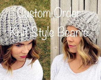 Knit Style Beanie