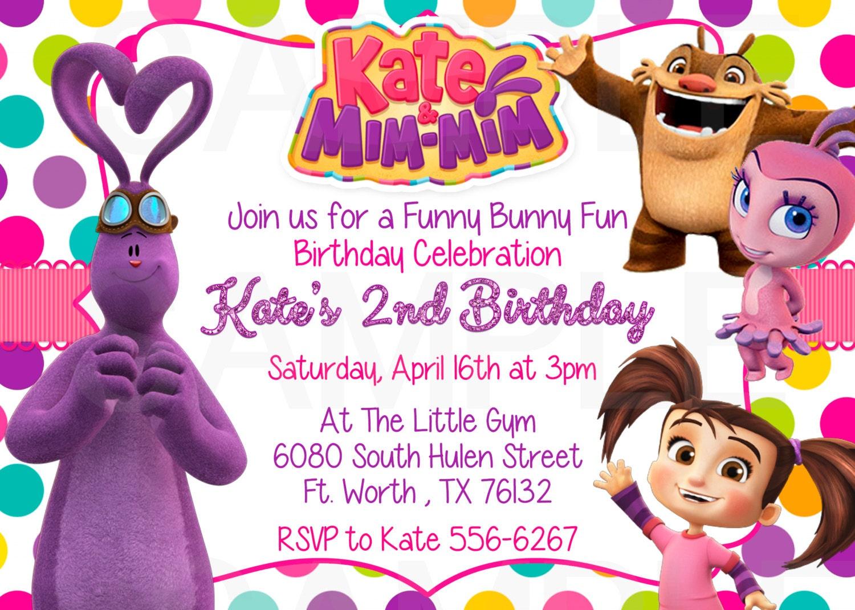 & Mim Mim Birthday Party Invitation Printable File